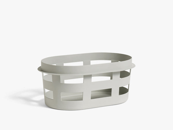 Basket, Small, Light Grey fra HAY