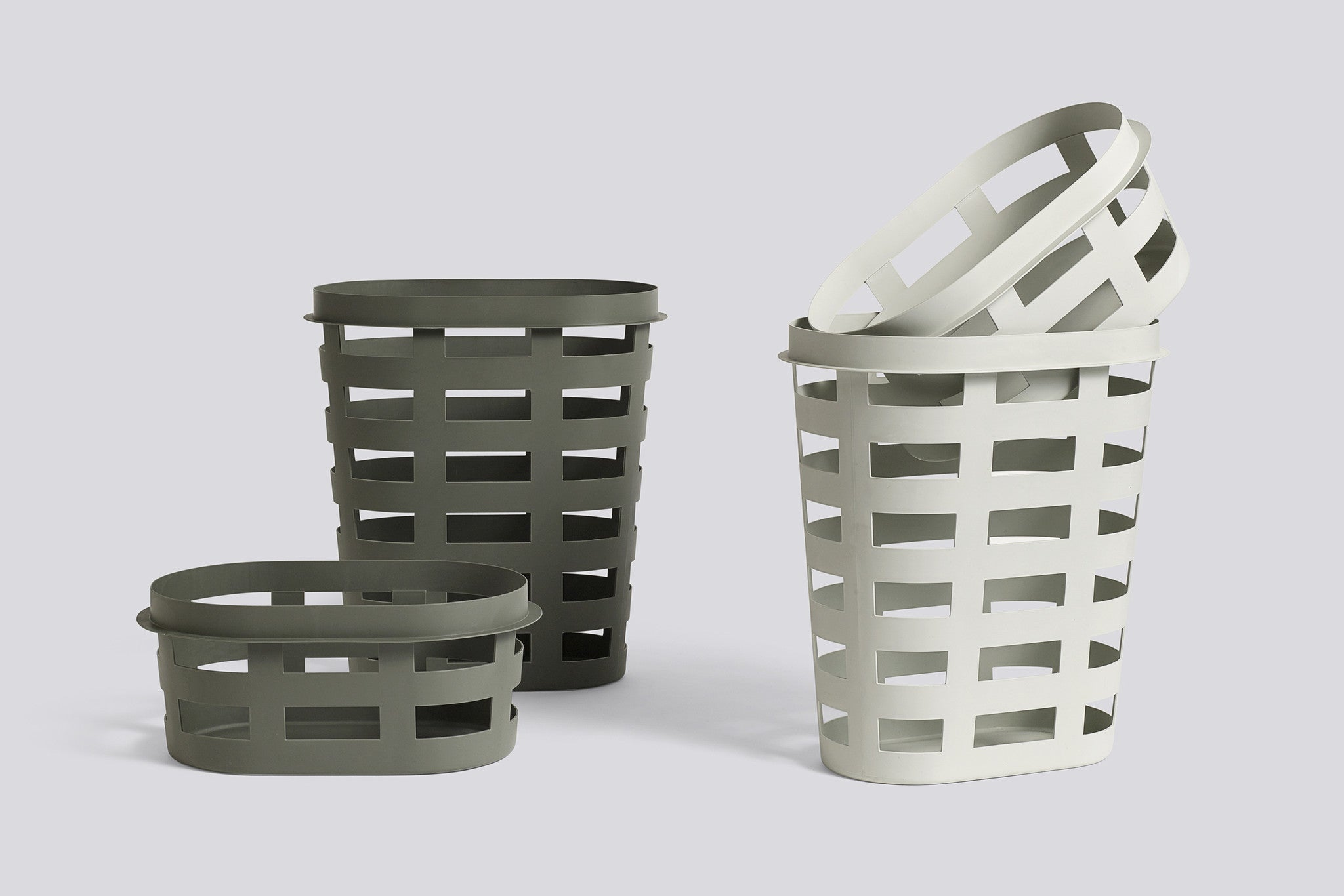 Laundry Basket, Small, Light Grey fra HAY