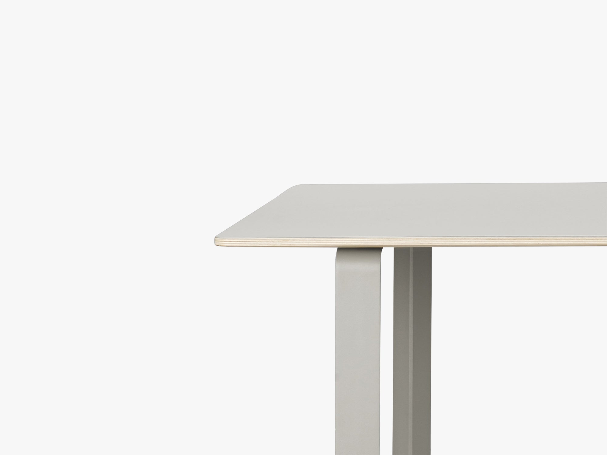 70-70 Table - Extra Large, Grey/Grey fra Muuto