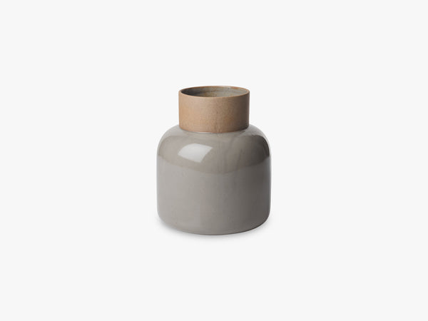 Earthenware Jar Vase, Moss grey - Un-glazed neck fra Fritz Hansen