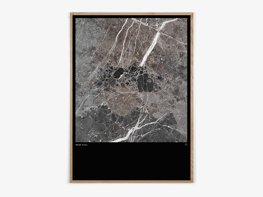 Marble Series #Brown - Beautiful World Plakat fra Beautiful World