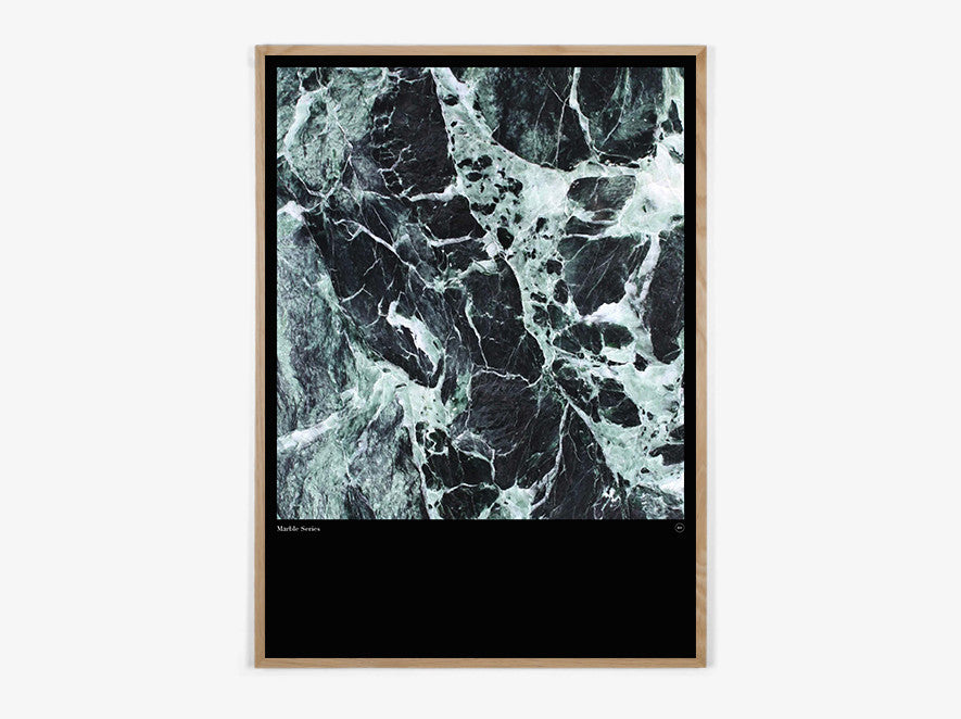 Marble Series #Green - Beautiful World Plakat fra Beautiful World