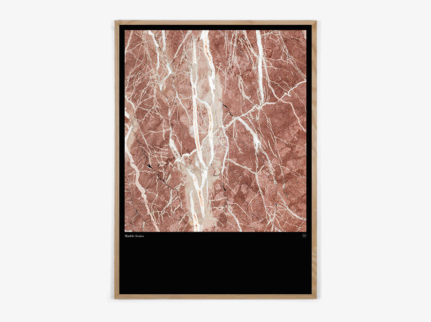 Marble Series #Red - Beautiful World Plakat fra Beautiful World