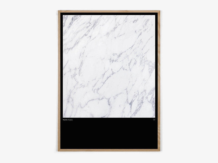 Marble Series #White - Beautiful World Plakat fra Beautiful World