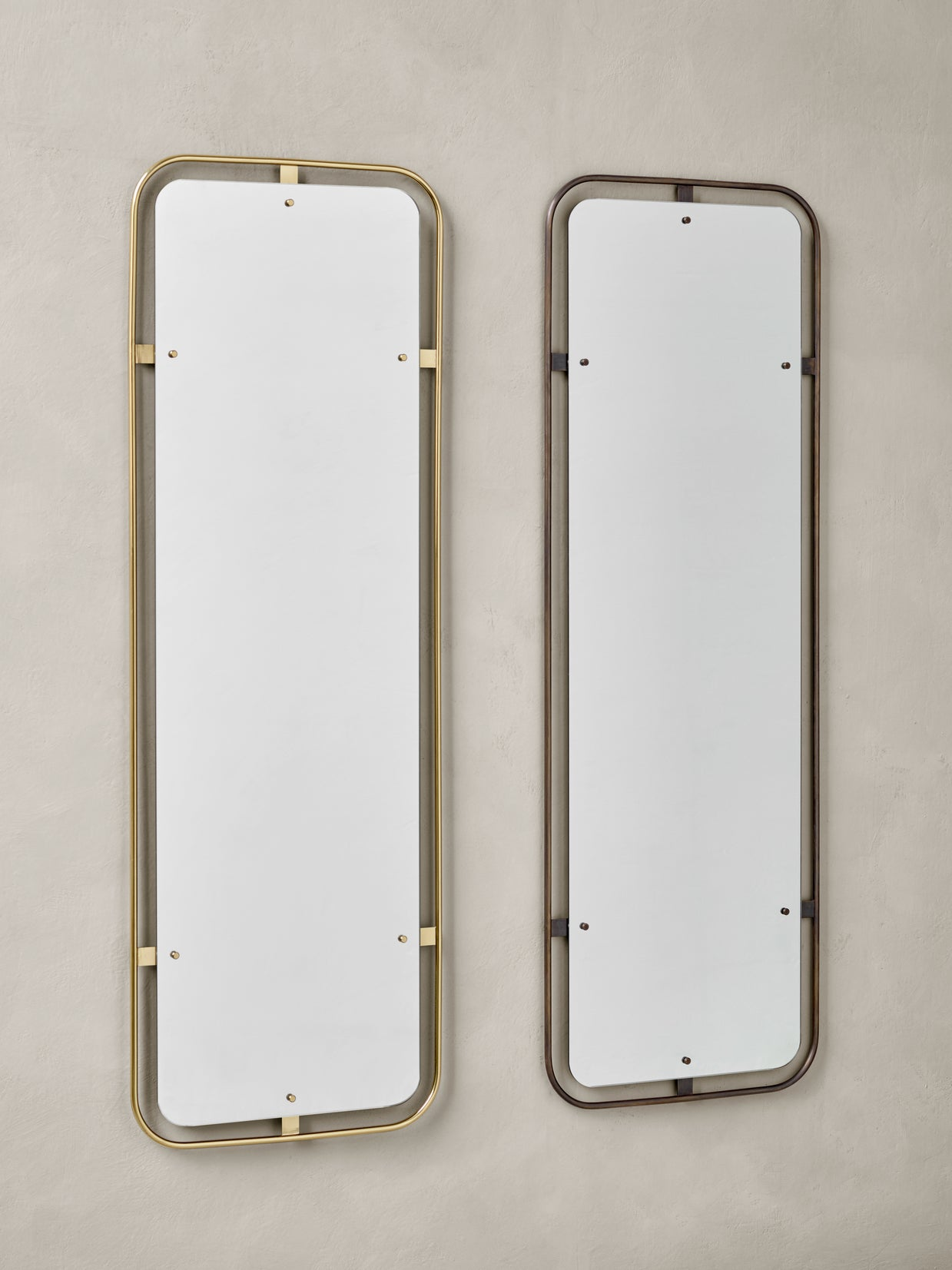 Nimbus Mirror Rectangular, Bronzed Brass fra Menu