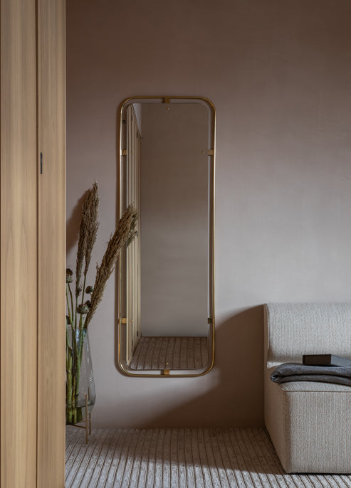 Nimbus Mirror Rectangular, Polished Brass fra Menu