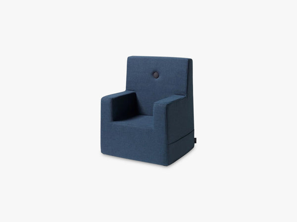 KK Kids Chair XL, Dark blue w black fra By KlipKlap