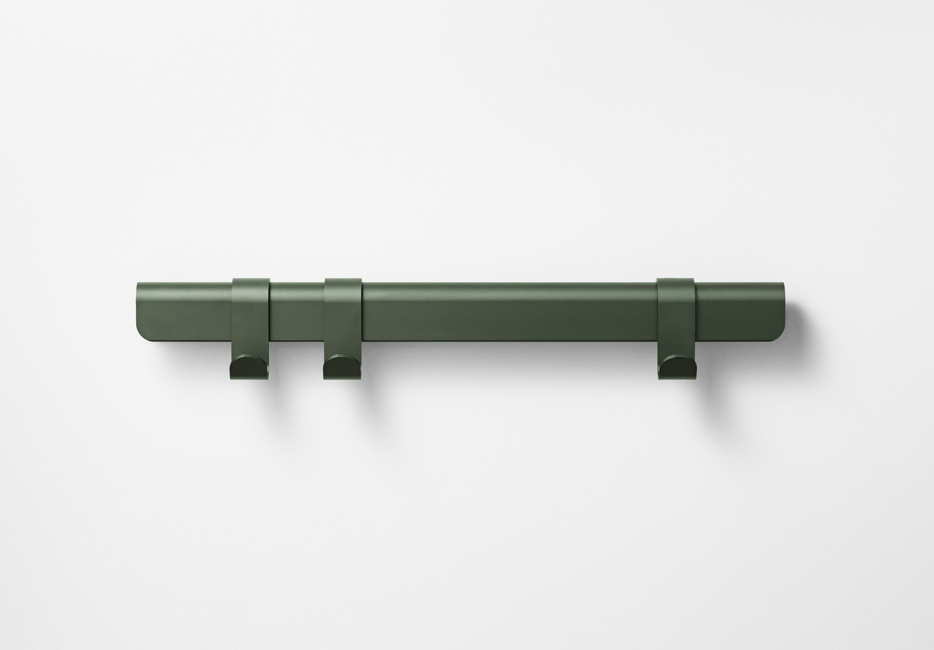 Hug Coat Rack 60cm, Dark Green/3 Hooks fra MILLION