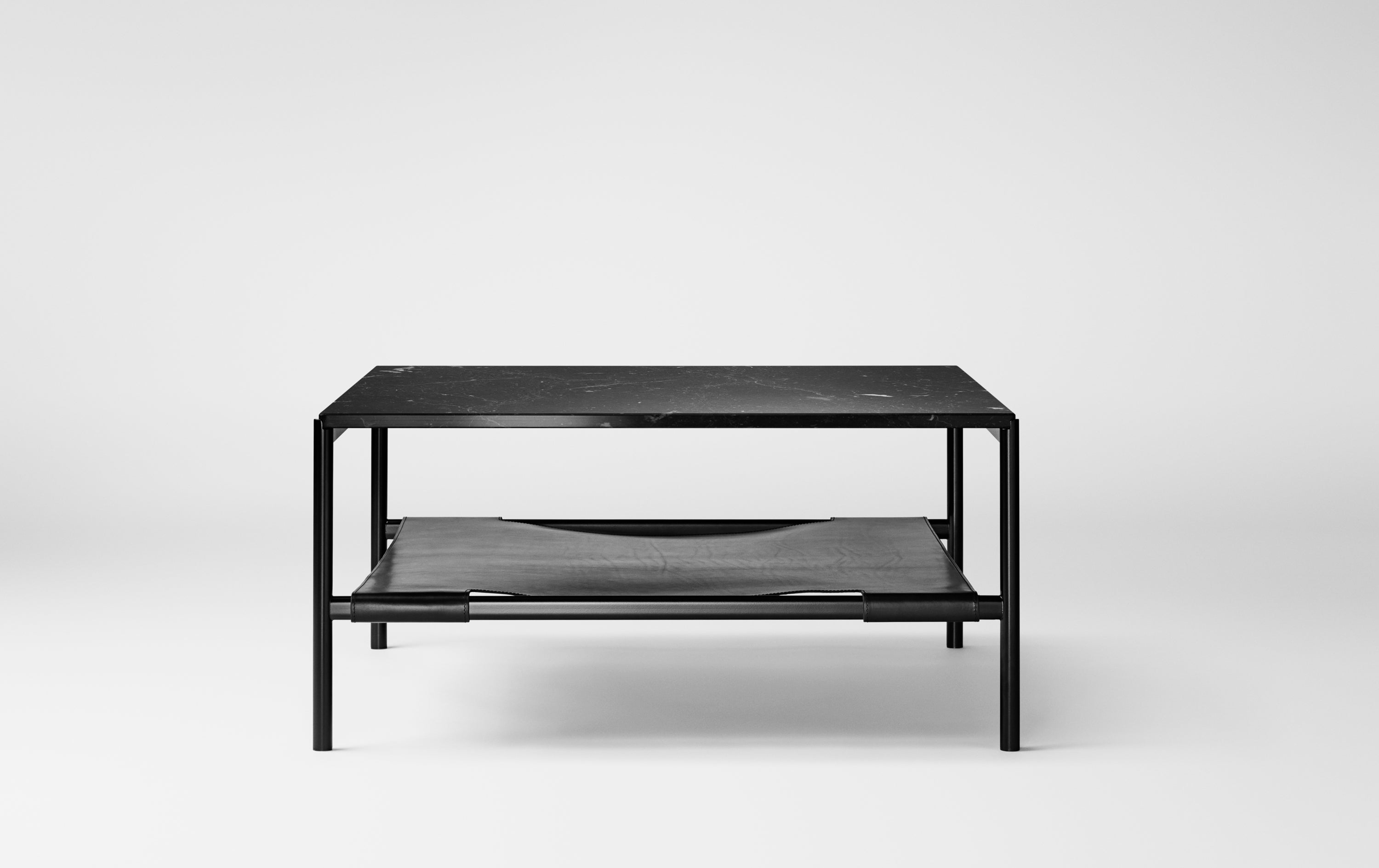 Mies Lounge Table, Black/Black Marble fra MILLION