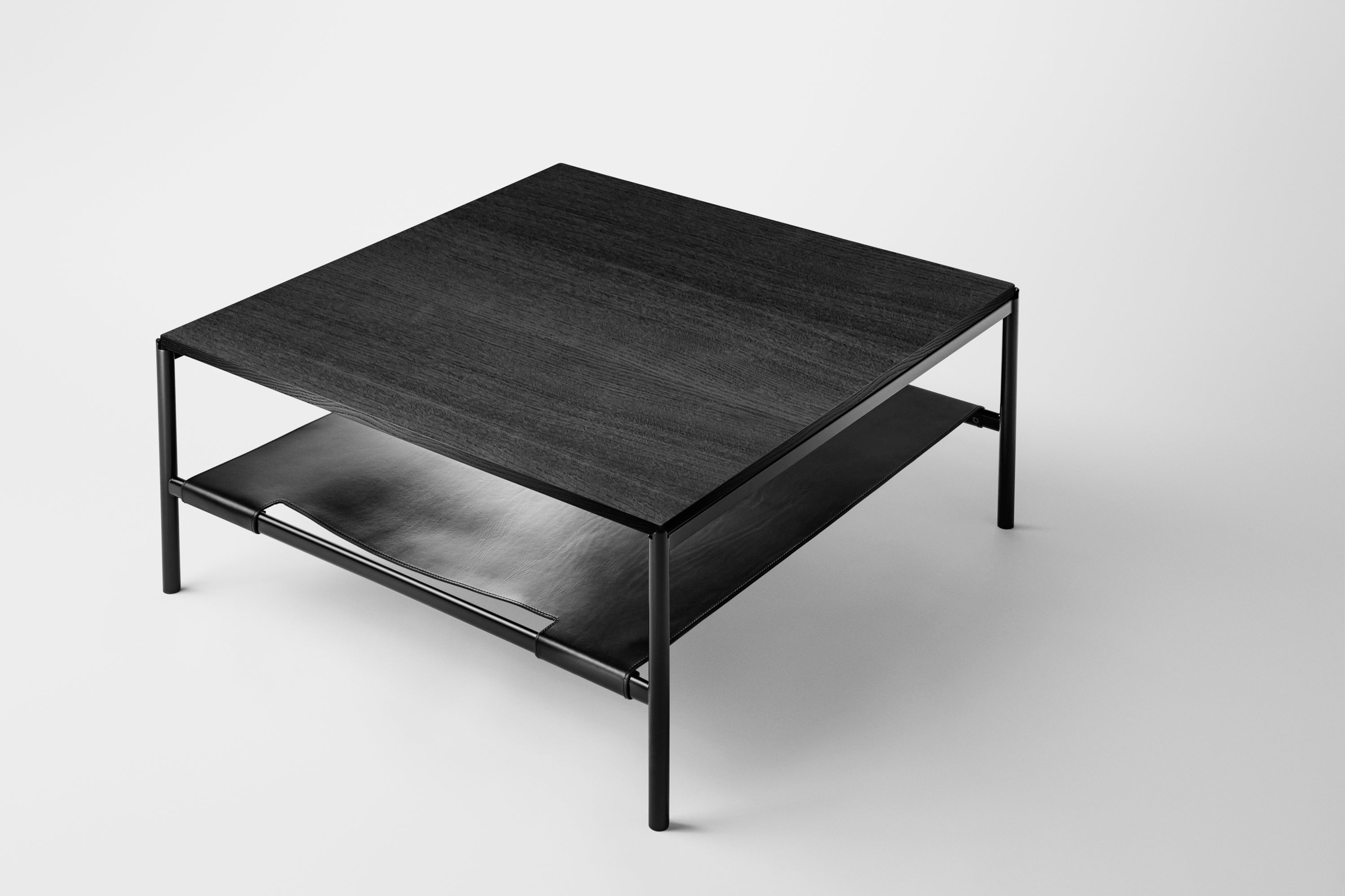 Mies Lounge Table, Black/Black Oak Veneer fra MILLION