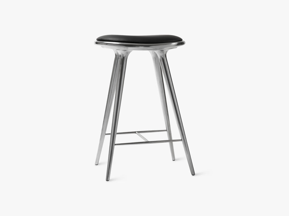 High Stool H69, Partly recycled Aluminium fra Mater
