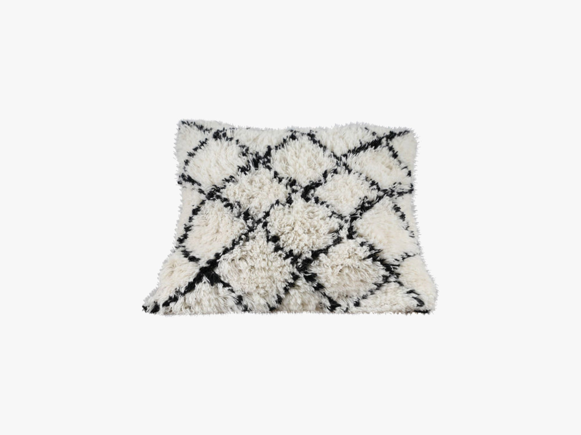 Handwoven Pillow, White/Black fra specktrum