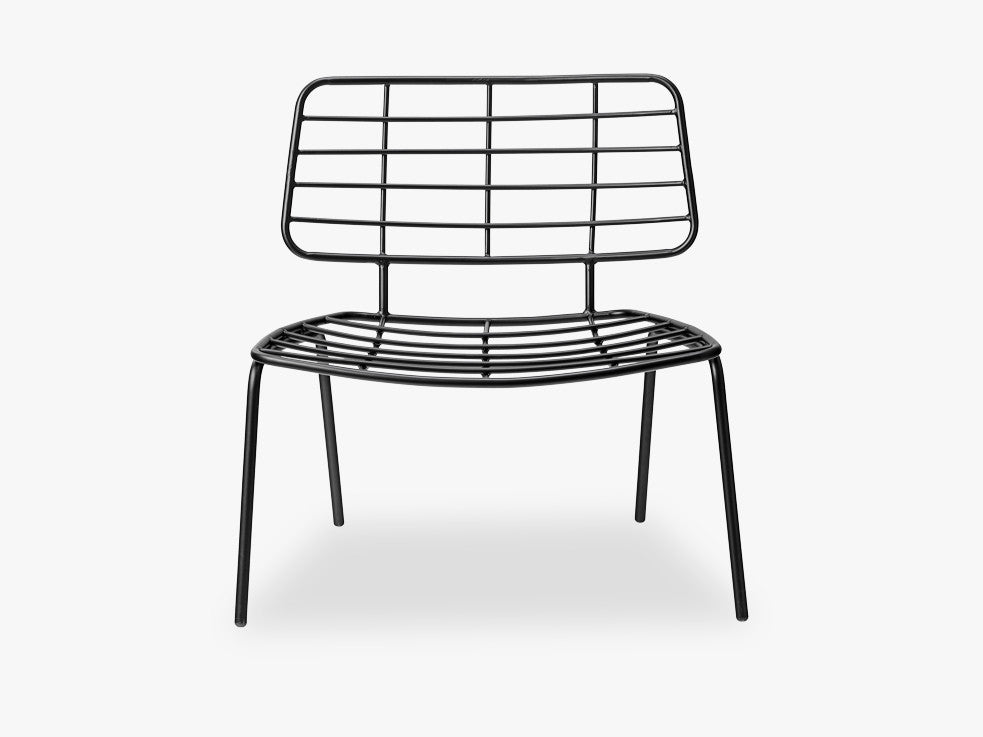 Mesh Lounge Chair, Black fra Bloomingville