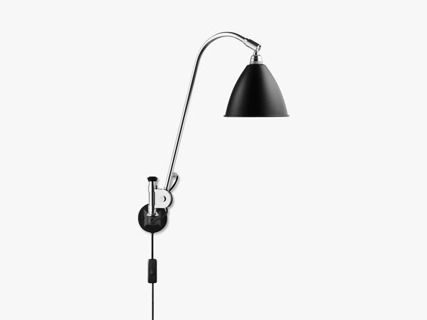 Bestlite BL6 Wall Lamp - Ø16 - Crome Base, Black fra GUBI
