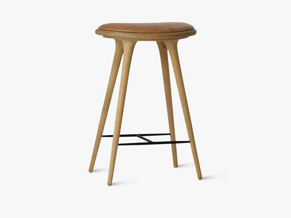 High Stool H69, Natural Soaped Oak fra Mater