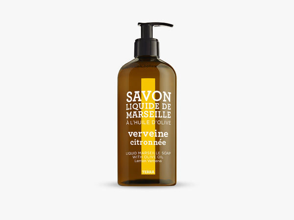 TERRA Liquid Soap 500ml, Lemon Verbena fra Savon De Marseille