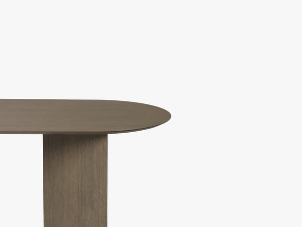 Mingle Table Top Oval 150 cm, Black Stained Veneer fra Ferm Living