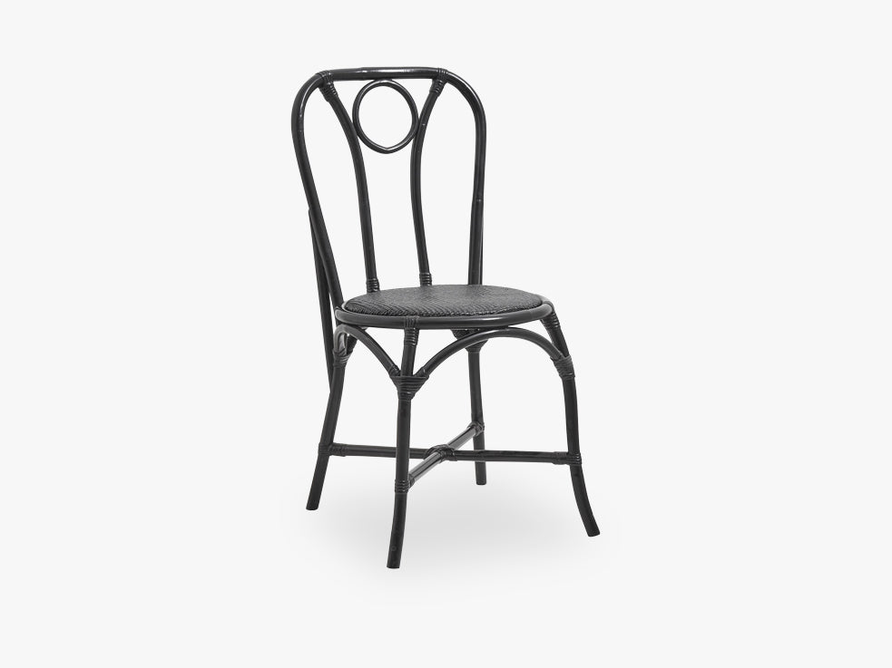 Black bamboo/rattan dinner chair fra Nordal