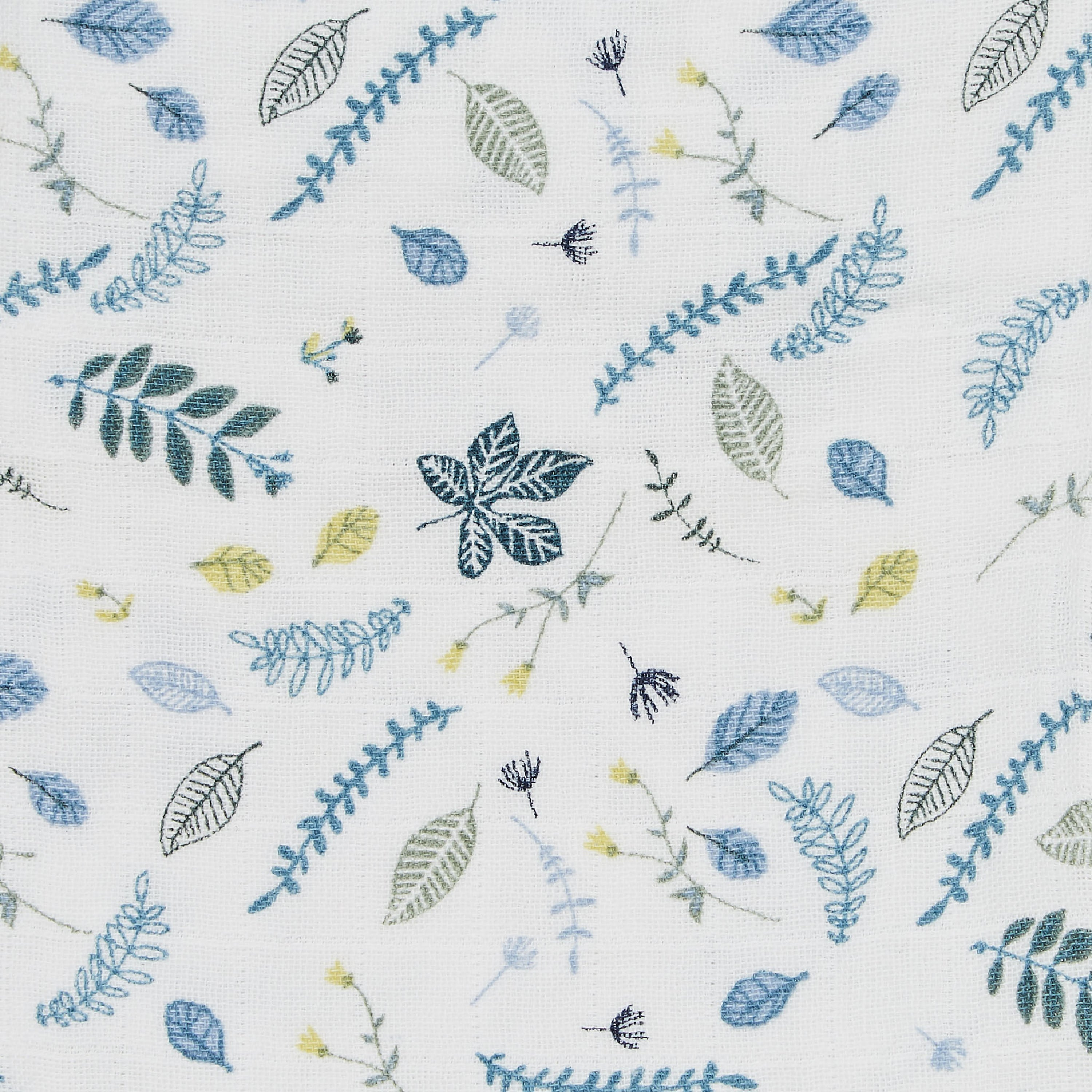 Muslin Cloth, Pressed Leaves Blue fra Cam Cam Copenhagen