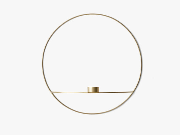POV Circle, Tealight Candleholder, L, Brass fra Menu