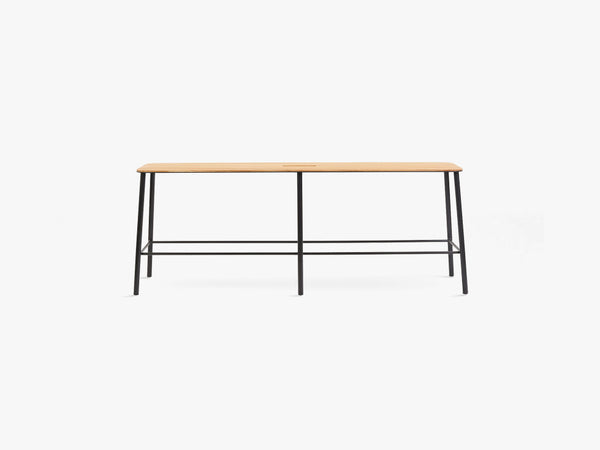 Adam Bench L120, Matt Black fra FRAMA