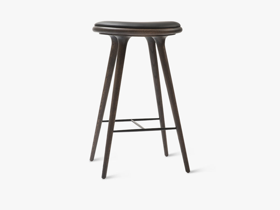 High Stool H74, Sirka Grey Stained Oak fra Mater