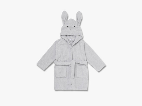 Lily Bathrobe Rabbit Solid, Dumbo Grey fra Liewood