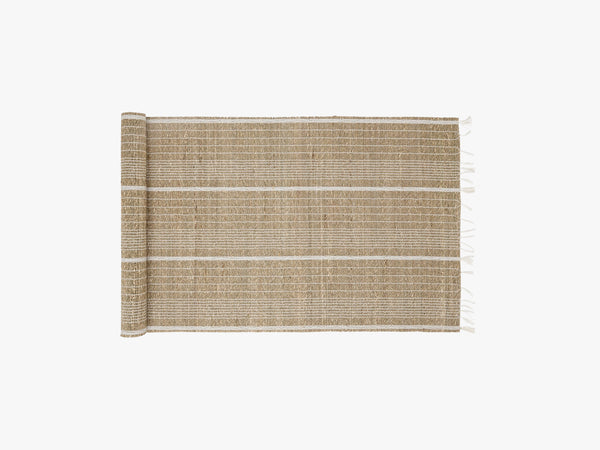 Seagrass runner, white/nature fra Nordal