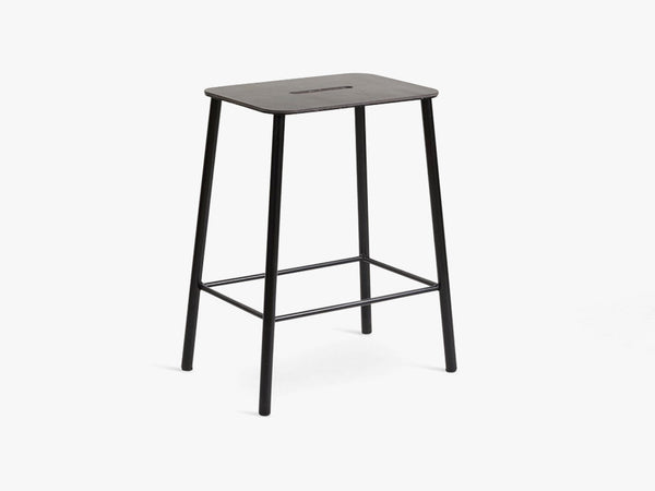 Adam Stool H50, Black Leather fra FRAMA