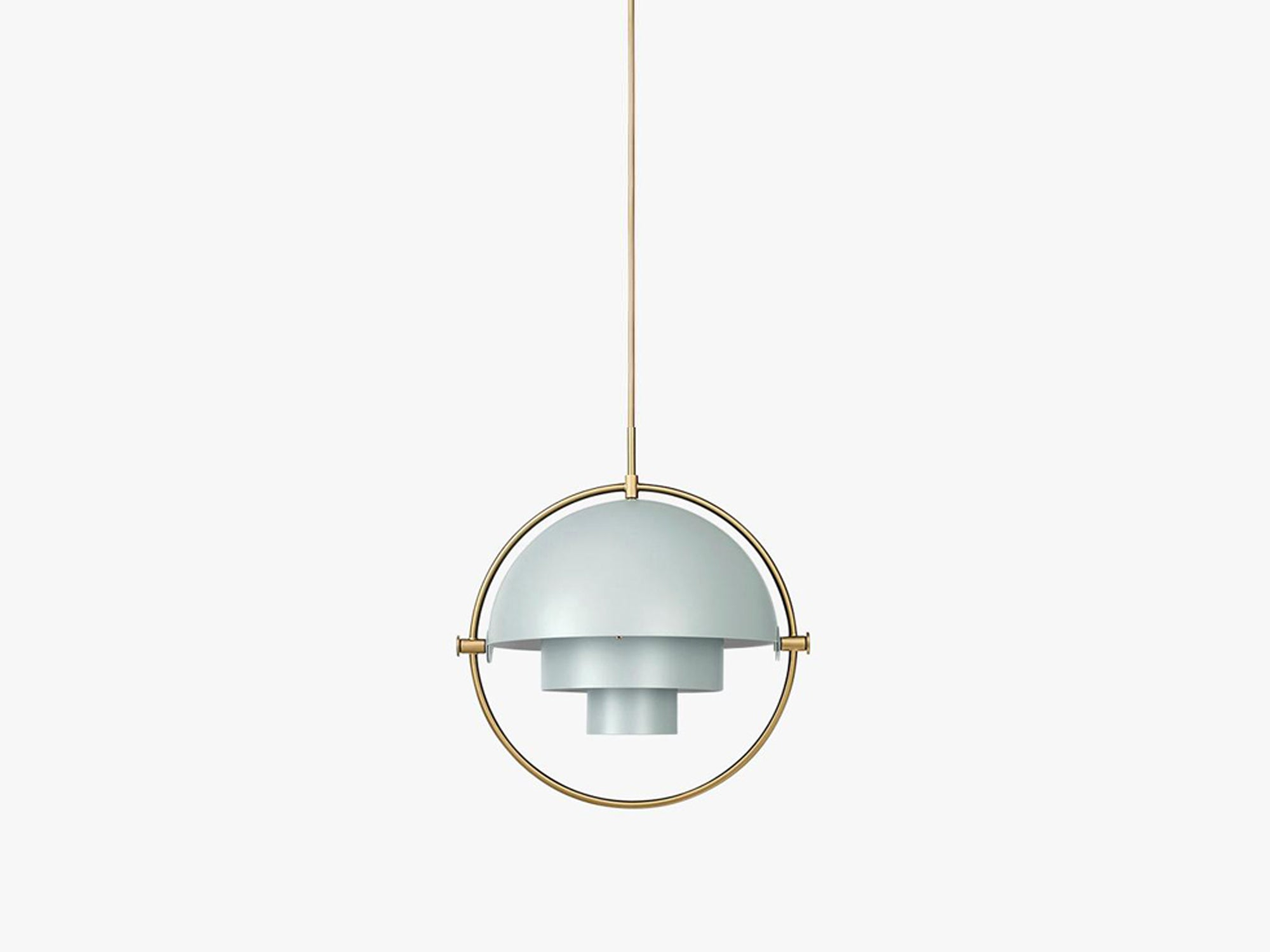 Multi-Lite Pendant - Ø36 - Brass Base, Sea Grey fra GUBI