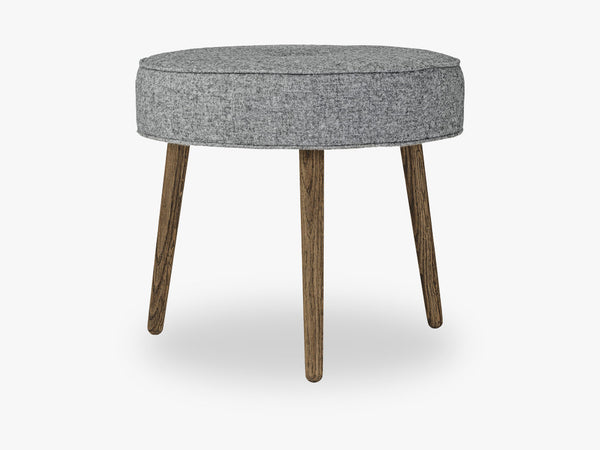 Button Pouf, Grey, Wool fra Bloomingville