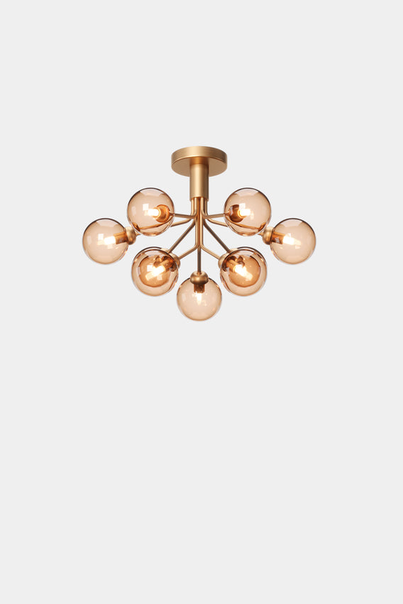 Apiales 9 Ceiling, Brushed brass/gold fra Nuura