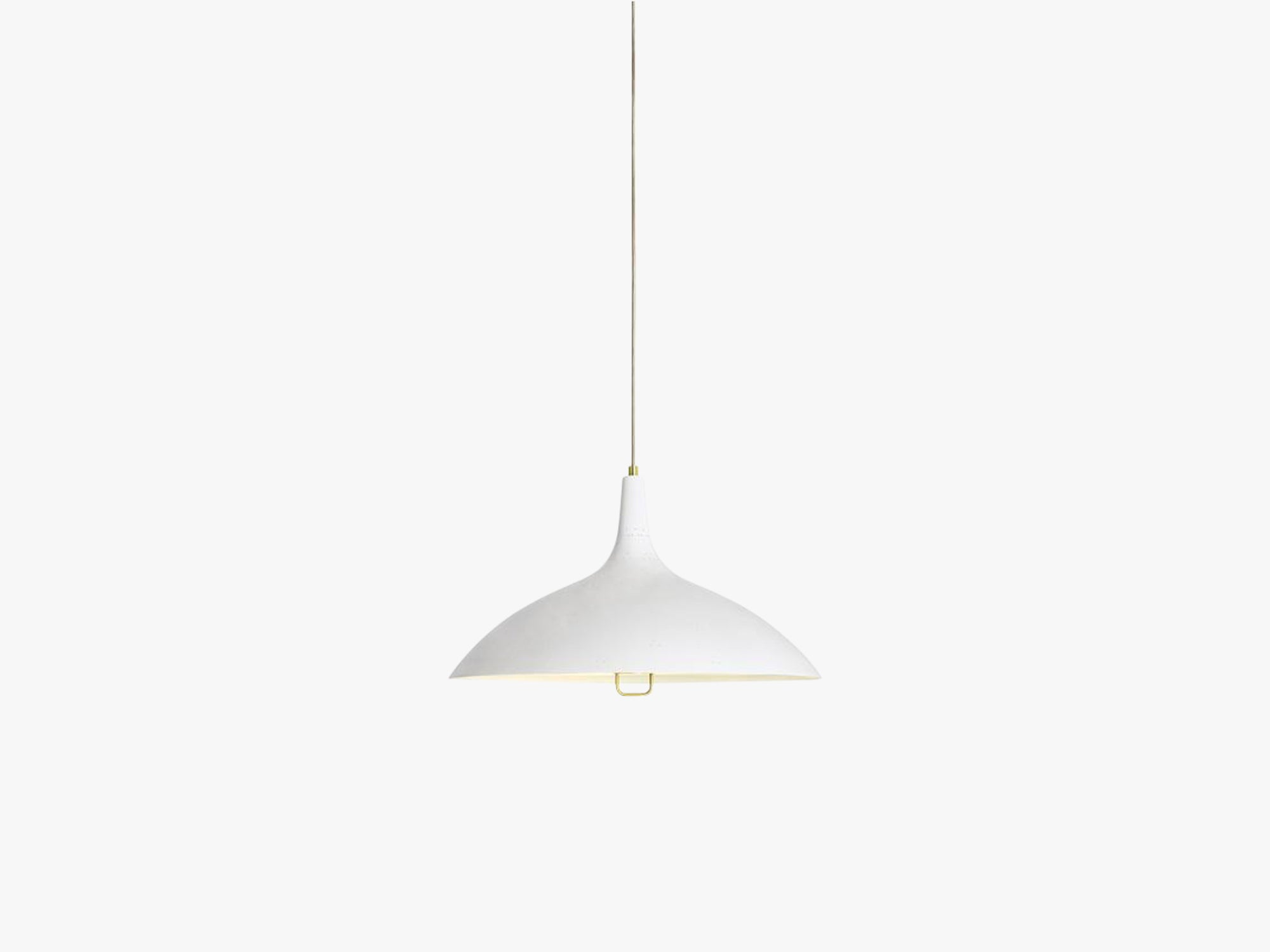 1965 Pendant - Brass base, White shade fra GUBI