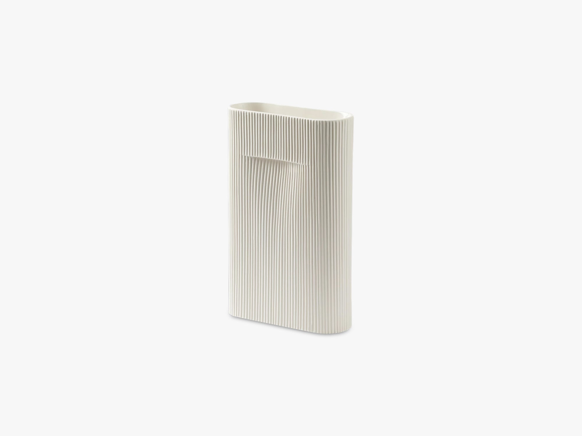 Ridge Vase, Off-white fra Muuto