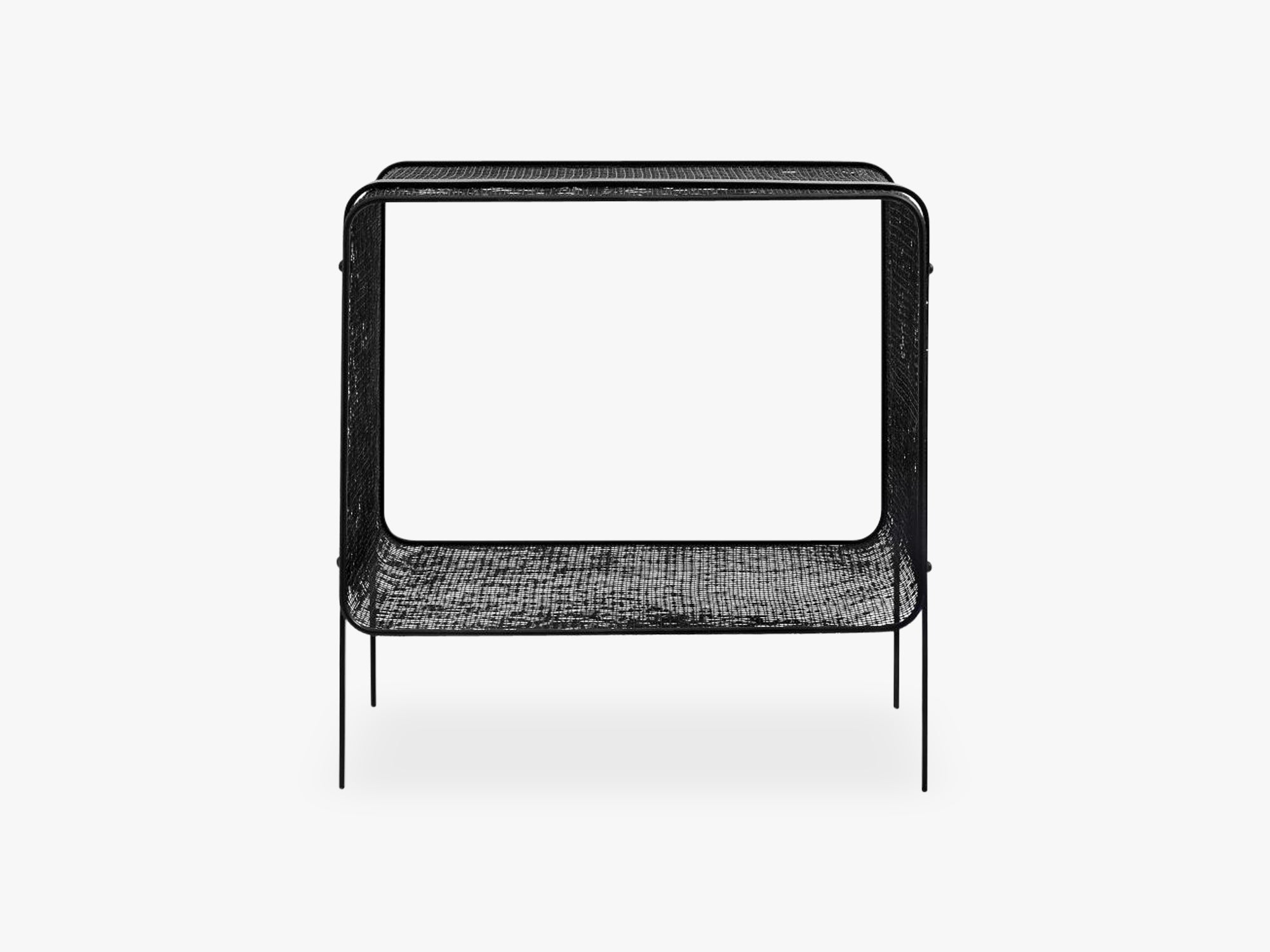 Iron side table, low, black fra Nordal