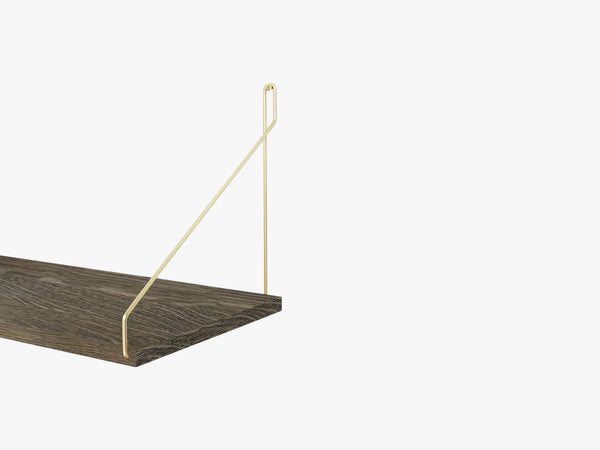 Shelf Dark, Brackets in Brass fra FRAMA