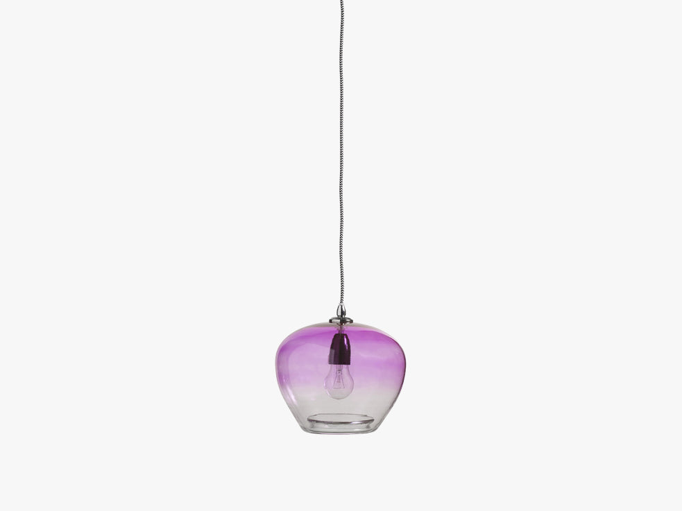 BUBBLE glass lamp, purple, ø-23 cm fra Nordal
