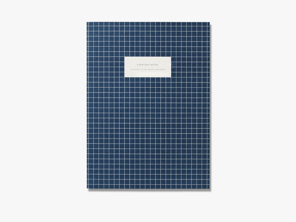 Large notebook, check dark blue fra Kartotek Copenhagen