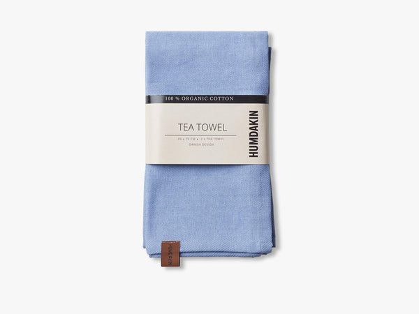 Organic tea Towels, Blue light fra HUMDAKIN