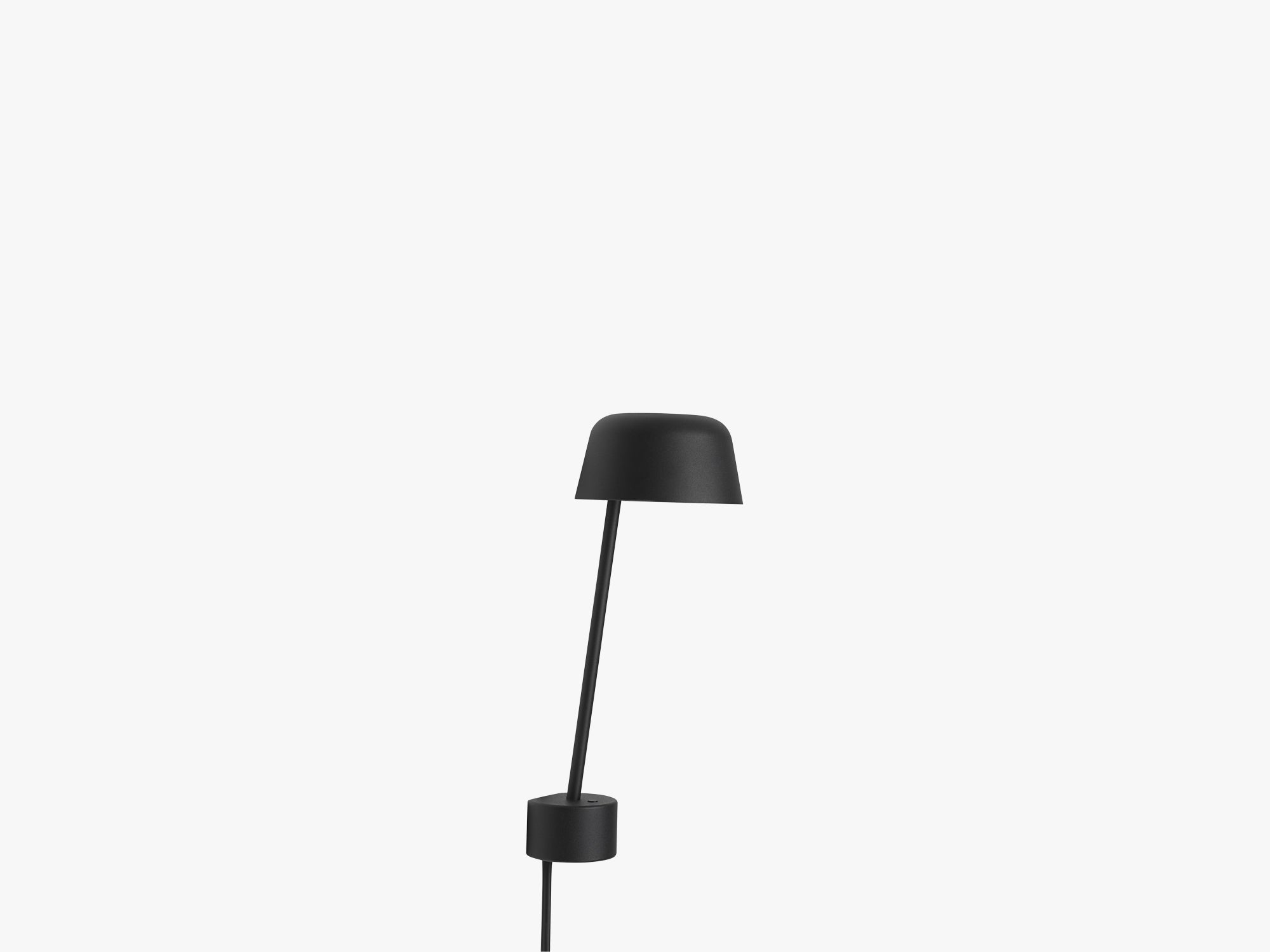 Lean Wall Lamp, Black fra Muuto