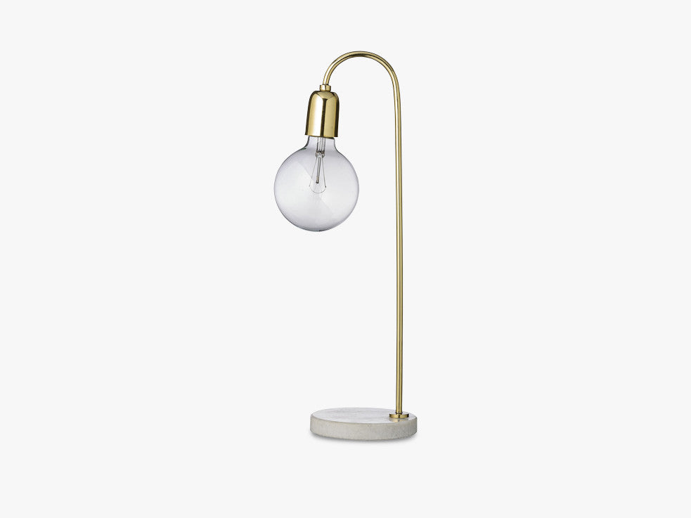 Table Lamp, Gold, Marble fra Bloomingville