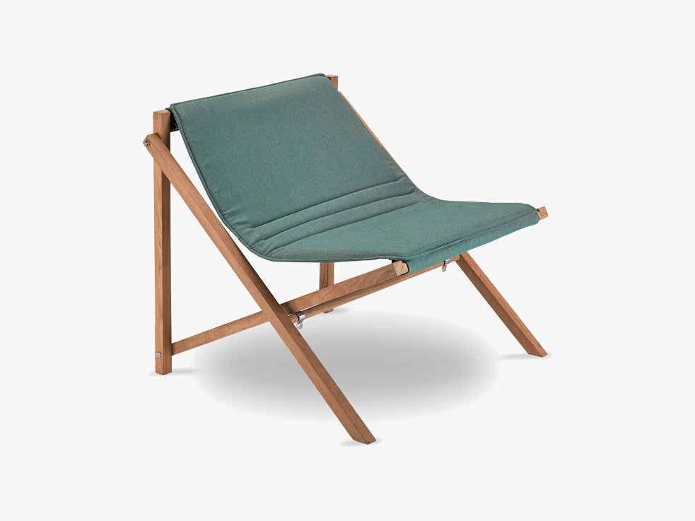 Aito Lounge Chair, Teak/Olive Green fra SKAGERAK