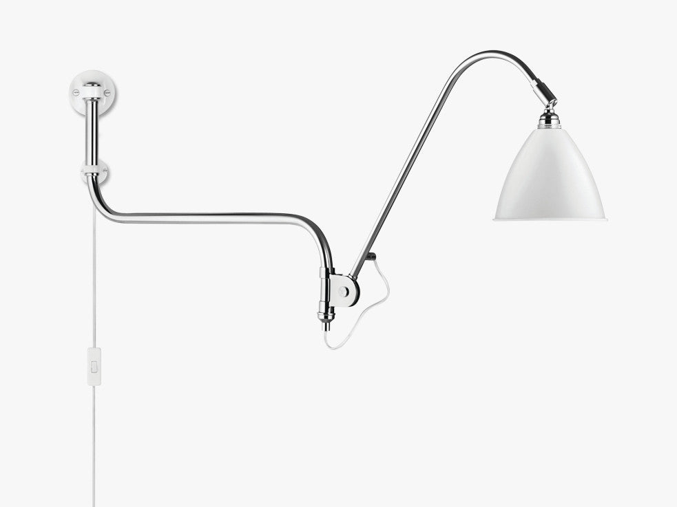 Bestlite BL10 Wall Lamp - Ø16 - Crome Base, Matt White fra GUBI
