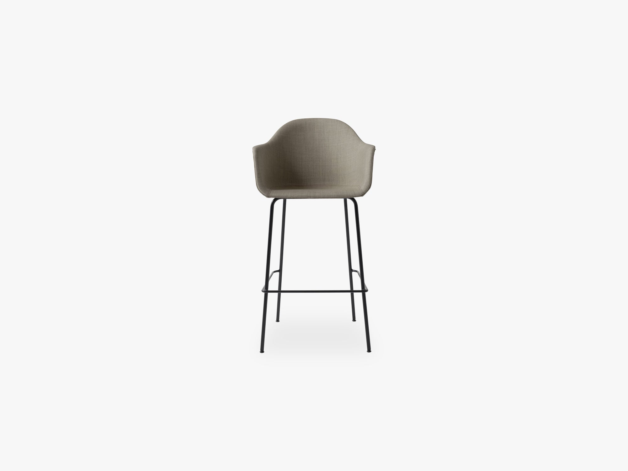 Harbour Chair - Bar, Black Steel Base/Remix 2, 233 fra Menu