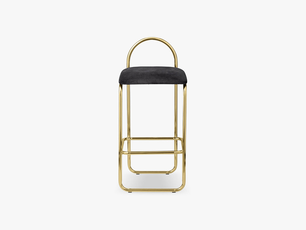 ANGUI bar chair low, gold/anthracite fra AYTM