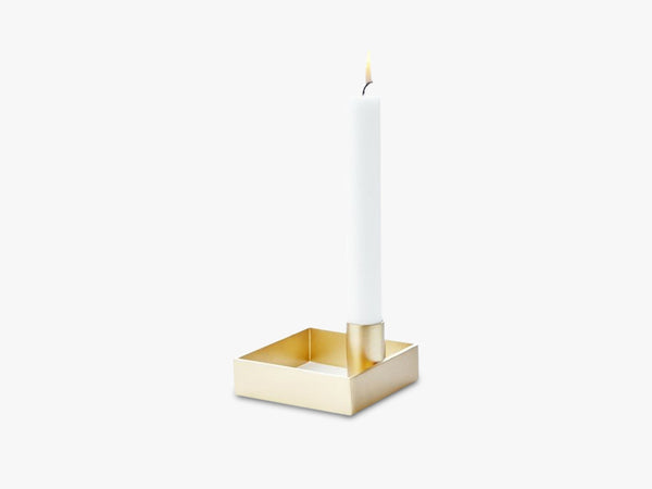 Edge Candle holder Brass fra MALLING LIVING