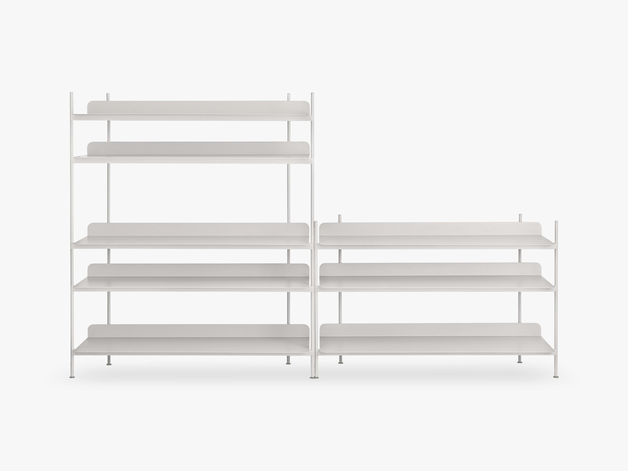 Compile Shelving System / Configuration 7, Grey fra Muuto