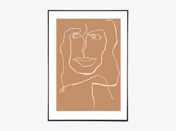 One Line Female - Nude - Limited Edition fra Mette Handberg
