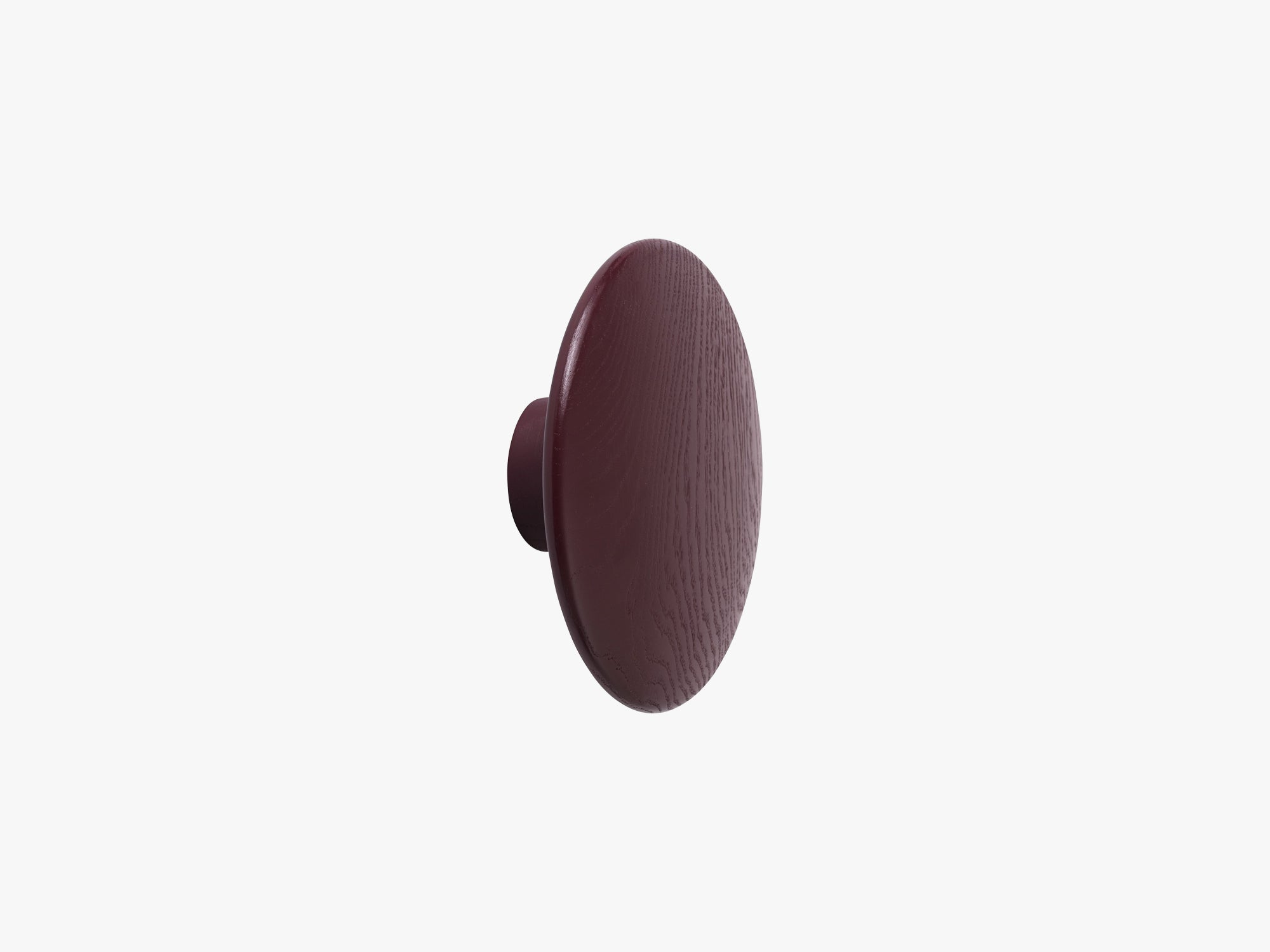 The Dots Coat Hooks / Large, Burgundy fra Muuto