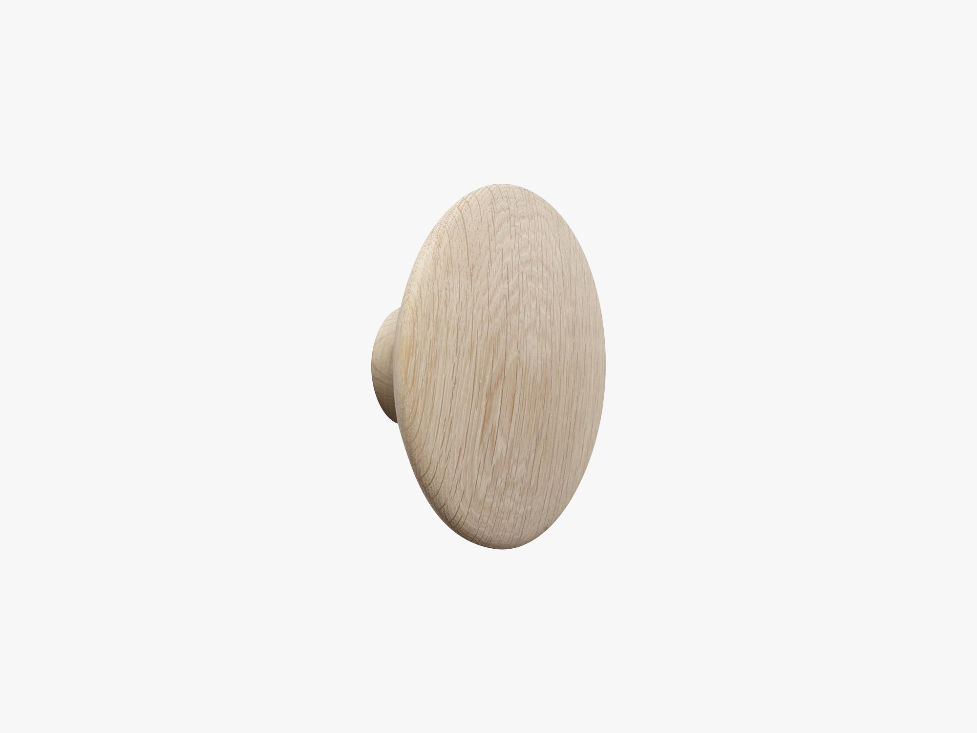 The Dots Coat Hooks / Large, Oak fra Muuto